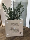 Personalised Shabby Chic Plant Pot AUNTIE gift AUNTY GREAT AUNT OR ANY NAME - 254325817137